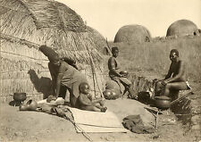 FOTOGRAFIA ORIGINALE VINTAGE TRIBù AFRICANA NUBA MASAI WATUSSI ZULU MALAWI