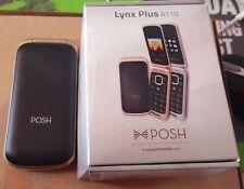 NEW Posh Lynx Plus A110a 1.8 Black GSM Tmobile Unlocked Dual Sim Flip Cell Phone