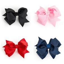 Flower Centre Ribbon Style Bow Motif Hair Beak Clip Slide Grip - Accessories