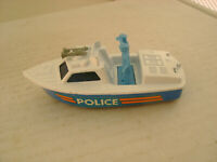 1976 MATCHBOX LESNEY SUPERFAST #52 POLICE LAUNCH BOAT