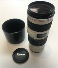 Canon Zoom Lens EF 70-200mm f/4 L IS USM Lens w/ Filter & Hood