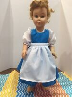 "Fits 19"" Chatty Cathy Doll Clothes Gown Princess Belle Town Beauty Dress Blue"