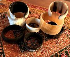Lot Of 8 Ox Horn Cuff Bracelets Organic horn Handmade Bangles Men/Women Jewelry