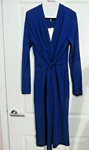 ISSA ROYAL BLUE KATE TIE WRAP DRESS SIZE 8 NEW WITH TAG