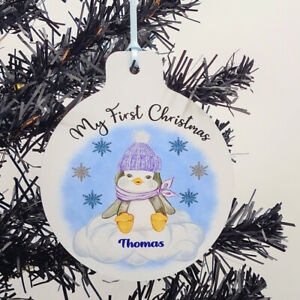Personalised My First Christmas Tree Decoration - Baby Boy - 1st Xmas
