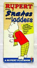 Rupert Plays Snakes and Ladders A Rupert Bear Playbook Len Collins Paperback