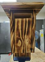 """5/8"""" Pine Slotted Blue Bird House w/torched finish. Sealed and waterproofed."""