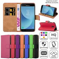 Samsung Galaxy J3 2017 Case Cover Magnetic Flip Wallet Leather Stand Card Holder