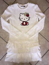 Original Marines Vestito Bambina Hello Kitty Velluto Tg.10 Anni