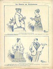 Caricatures Guerre Epreuves de Selection Mont-de-Marsan/Map Carte War   1916 WWI