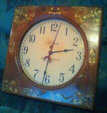Commercial Warren Telechron wall clock  1930-50s