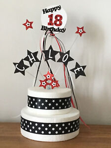 Cake Topper Personalised Birthday Decoration Star 1st 2nd 3rd 18th 21st All Ages