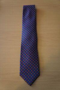 The Mens Store Bloomingdales Tie Royal Blue Multi Color Geometric Silk Necktie