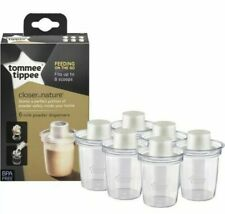 TOMMEE TIPPEE CLOSER TO NATURE MILK POWDER DISPENSERS X6 - BRAND NEW