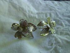 Vintage Sterling Silver Earrings Signed HSB
