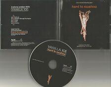 VANILLA ICE hard to Swallow ULTRA RARE 6 TRK SAMPLER PROMO DJ CD single 1998 USA