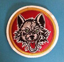 Chicago Wolves AHL CCM Maska Hockey Jersey Iron On Shoulder Patch Crest F