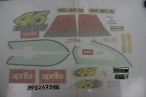 Serie adesivi VALENTINO ROSSI Graphic Decal set Aprilia SR 50 ADESIVO MANCANTE