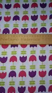 CLEARANCE! Fine needlecord Tulips fabric by Robert Kaufman Fabrics