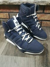 Adidas High Top Basketball Sneakers Shoes Blue White Mens Size 8.5 2011 Retro