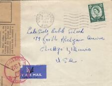 1963, England to Chicago, Il, Censored, See Remark (C2905)