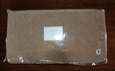 New Pottery Barn Washed Velvet Silk Diamond Quilt Full Queen Sandstone $299
