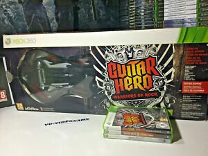 GUITAR HERO WARRIORS OF ROCK  CHITARRA CON 3 CHIOCHI XBOX 360