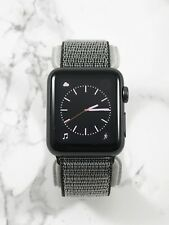 Apple Watch Series 1 38mm Space Gray Aluminum Case Olive Nylon Loop