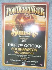 POWDERFINGER SUNSETS TOUR POSTER ROCKHAMPTON MINT