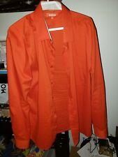 Monza Orange Dress Shirt Size 2XL
