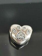 Genuine Sterling Silver PANDORA I LOVE MY PET Charm -791713CZ S925 ALE