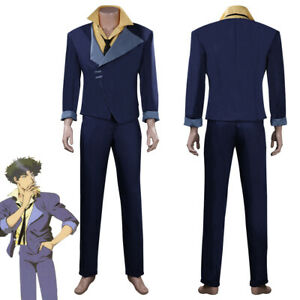 Anime Cowboy Bebop Spike Spiegel Cosplay Costume Halloween Outfit Carnival Suit