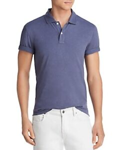 Bloomingdale's Mens Size Medium Polo Shirt Slub Jersey Enzyme Wash Classic Fit