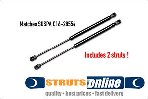 2 New canopy Gas Struts 370mm end to end 24lbs match Suspa C16-28554 5003022409