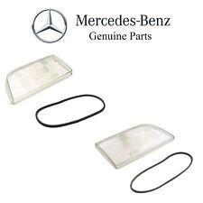 Mercedes W140 S320 S350 S500 Pair Set of Left & Right Headlight Lenses Genuine