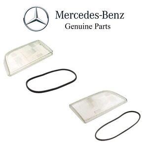 For MB W140 S320 S350 S500 Pair Set of Left & Right Headlight Lenses Genuine