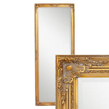 Wandspiegel barock Gold antik Design Spiegel Pompös Holzrahmen Leandos 180x70cm