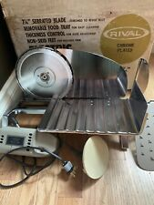 Rival Electric Food Slicer Model 1030V Meat Cheese Tested Works w Original Box
