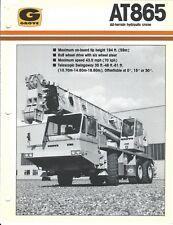 Equipment Brochure - Grove - At865 - All-Terrain Hydraulic Crane - c1987 (E4033)