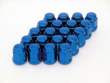 20 Stahl-Radmuttern / Lug nuts M12x1.5 Kugelbund Typ: geschlossen - blau