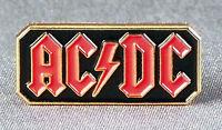 Metal Enamel Pin Badge Brooch ACDC Rock Band Black Red & Gold