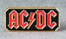 Metal Enamel Pin Badge Brooch ACDC Rock Band Black Red & Gold