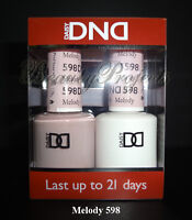 DND Daisy Soak Off Gel Polish Melody 598 full size 15ml LED/UV gel duo NEW