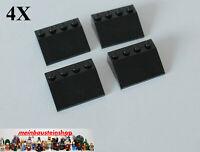 4X Lego® 3297 Basic Dachsteine Dachziegel Slope Roof Tile 25° 3X4 Schwarz NEU