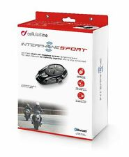 CELLULAR LINE INTERPHONE SPORT INTERFONO AURICOLARE BLUETOOTH CASCO SINGOLO