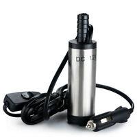DC 12V Submersible Pump 38mm Water Oil Diesel Fuel Transfer Cigarette Plug New
