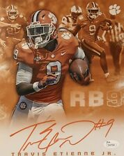 Travis Etienne Signed Autographed Clemson Tigers 8x10 Photo JSA COA