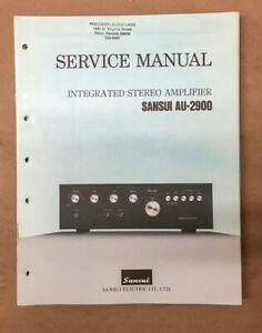 Sansui AU-2900 Amplifier Service Manual *Original*
