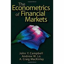 The Econometrics of Financial Markets by A. Craig MacKinlay, Andrew W. Lo, John Y. Campbell (Hardback, 1996)