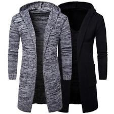 Men's Sweater Hoodies Cardigan Long Trench Hooded Coat Jacket Loose Outwear Tops